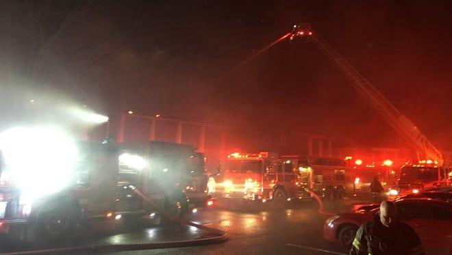 NFD battles a fire in Bellevue.