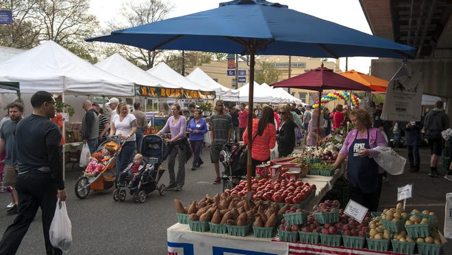 The Collingswood Farmers Market is one of many local markets where you can find fresh, spring produce.