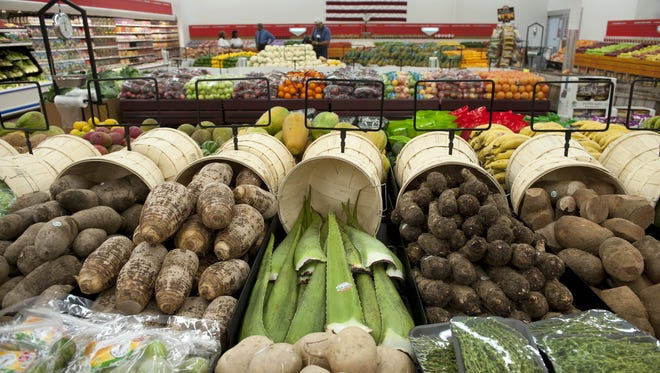 Fresh foods are on display at the Ravitz Family Markets' PriceRite in Camden.