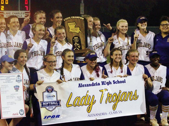 The ASH Lady Trojans are the 2016 LHSAA Class 5A Softball State Champions.