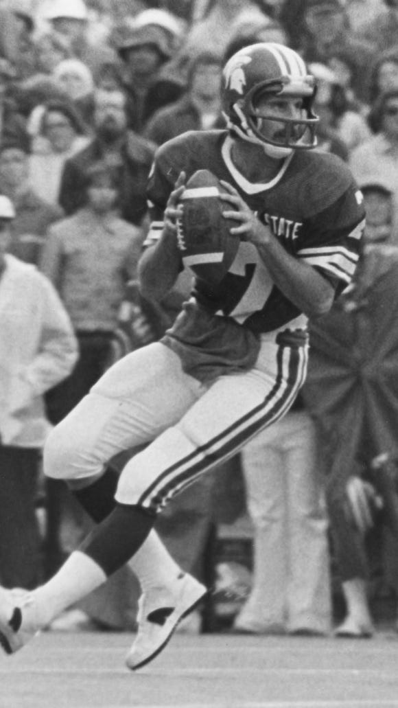 Ed Smith quarterbacked the high-flying MSU offense in 1978.