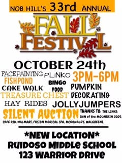 The annual fall fundraiser moves this year to a new location at Ruidoso Middle School.