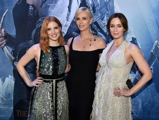 Jessica Chastain, Charlize Theron and Emily Blunt at