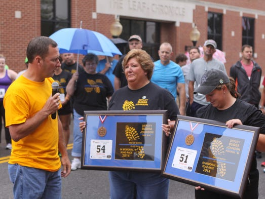 The Inaugural Bubba Johnson 5K Memorial Road Race was held Saturday morning, about 300 participants took place.