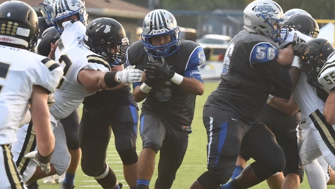 Kavon Robertson scored a rushing touchdown Friday night in Robert E. Lee's loss to Luray.