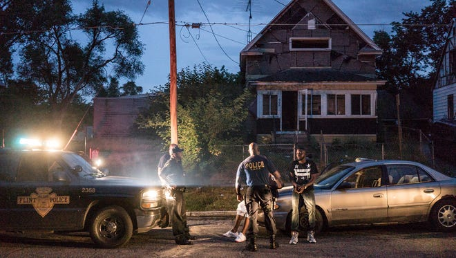 In the Netflix series 'Flint Town, two men are handcuffed by the local police after they were found asleep in their car in the middle of the road.  The men had taken some painkillers and passed out with the car in the street.  Once woken up the officers, one of the men showed his scar from a recent shooting.  He repeatedly asked the officers to call a detective in the department because the man was acting as a witness in the shooting.