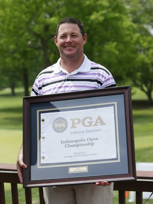 FILE -- Brett Melton won the 2016 Indiana Open. He is pictured at the 2014 Indianapolis Open.