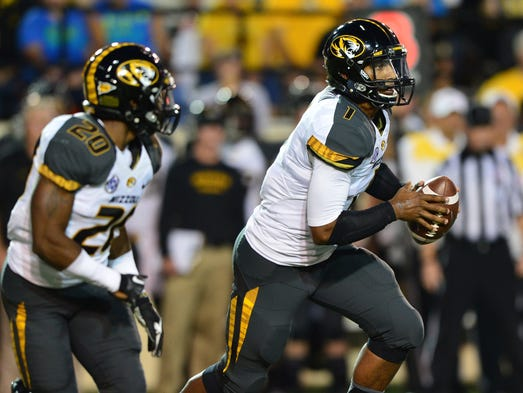 Missouri: Now healthy, Missouri's offense has regained some of its explosiveness in the new-look SEC — now one of the highest-scoring leagues in the FBS. But can the Tigers maintain this pace against the SEC's best? After starting 5-0 against lesser competition, Missouri put its perfect record on the line at No. 7 Georgia in a game with long-lasting implications. A win not only legitimizes Missouri's torrid start; it also moves the Tigers to the top of the SEC East while vaulting this team into the national championship conversation.
