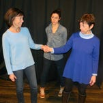 """The relationships among generations of women, played by Harriet Trangucci (left to right), Meg Whalen and Noreen Farley, are at the heart of """"Girl's Room."""" The play had its first staged reading at the same venue in 2007."""