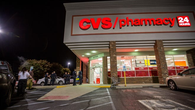 A CVS pharmacy on Kentucky Avenue was one of the many pharmacies that have been robbed for prescription drugs in the past three years.