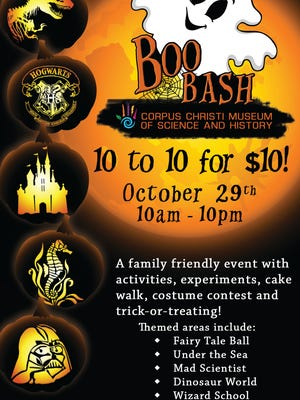 The Corpus Christi Museum of Science and History will host its first Boo Bash Halloween event from 10 a.m. to 10 p.m. Oct. 29.