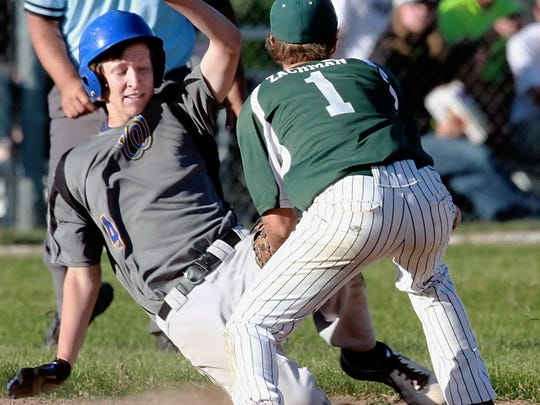 New Berlin West's Tim Rink was a key utility player and delivered the game-tying squeeze bunt in the state semifinal against Kettle Moraine.