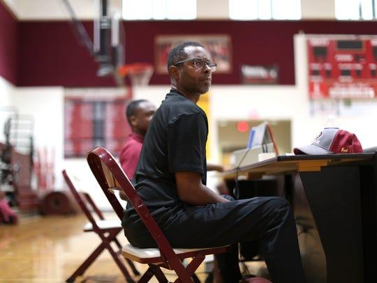Florida High Head Basketball Coach Charlie Ward works