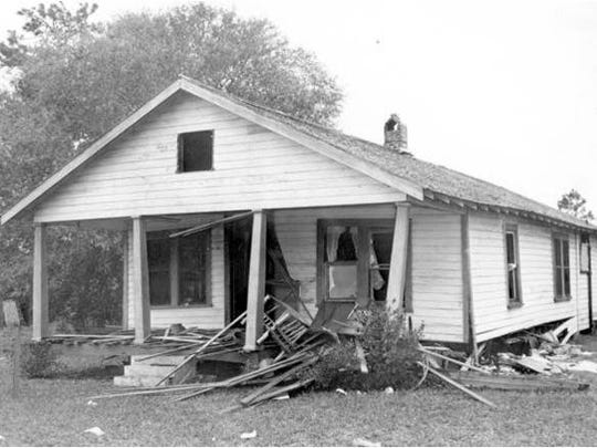 The Moore family home on December 26, 1951.