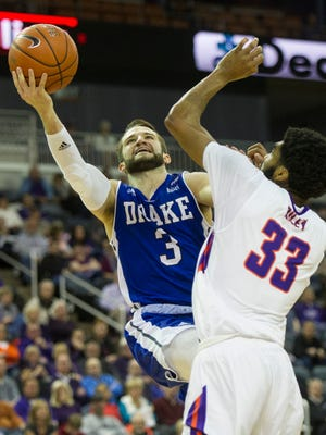 Walter McCarty's University of Evansville basketball program will open Missouri Valley Conference play January 2, 2019, at home against Drake. Last year, the Purple Aces and Bulldogs split the season series with each winning on their home court.