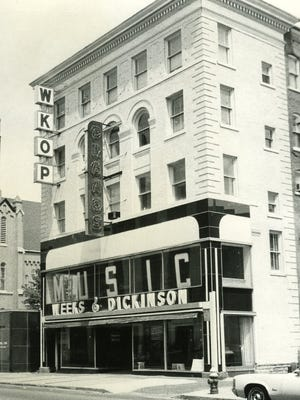 The Weeks & Dickinson Store with WKOP, around 1968.