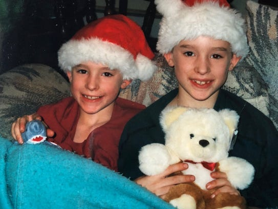 Twin brothers Kenny and Justin Jongsma when they were