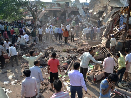 83 killed as explosions rip through busy restaurant in India.