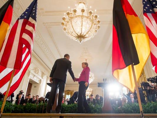 EPA USA GERMANY MERKEL OBAMA POL DIPLOMACY USA DC