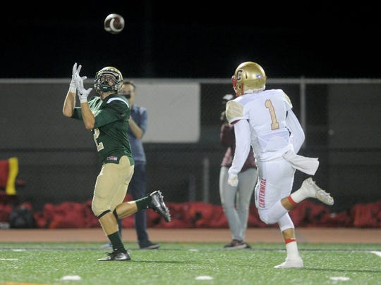 Jacob Bravo (left) and St. Bonaventure travel to the Santa Clarita Valley for a showdown with Hart on Friday night.