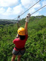 Zip Guam in Tumon offers course lengths from 220 feet to 550 feet.