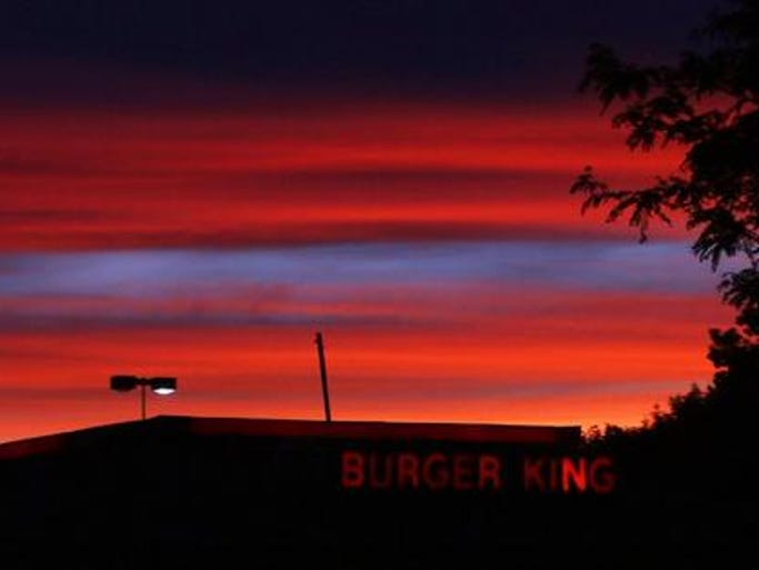 Sunset over Burger King Brewster