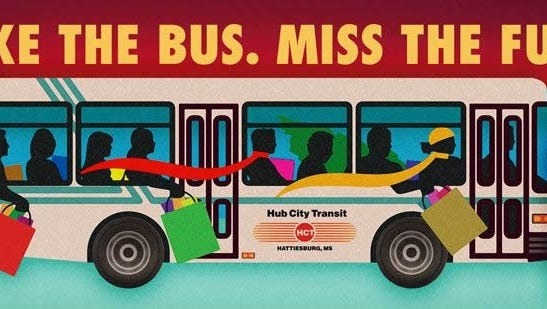 Try Transit Day will be held Thursday. Hub City Transit will offer free transportation to Hattiesburg-area residents.