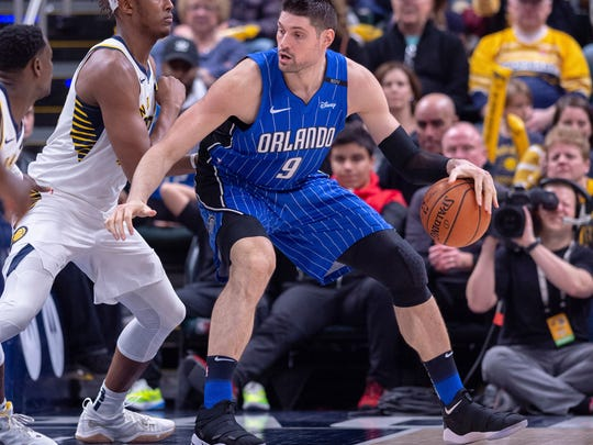 Magic center Nikola Vucevic was an All-Star for the first time this season.