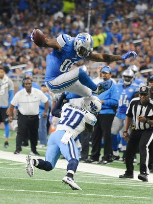 Lions tight end Eric Ebron returned to practice.