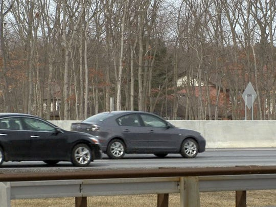 The buffer between the Garden State Parkway and the Evergreen Woods development in Brick Township was removed as the highway's widening project continued.