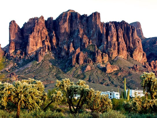 Join REI to celebrate women in the outdoors at Lost Dutchman State Park.