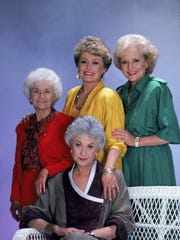 """The Golden Girls,"" which ran from 1985-92, starred Estelle Getty, left, Bea Arthur, sitting, Rue McClanahan and Betty White."