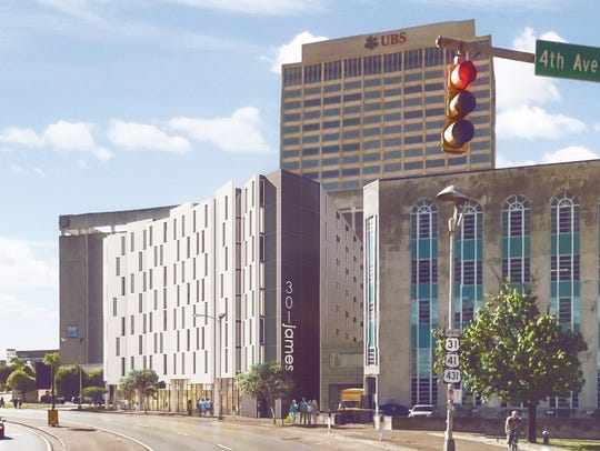 An early design plan for the proposed 8-story homeless