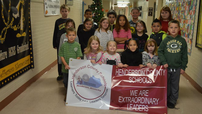 """Jefferson Elementary November leaders of the month are, front row from left: Alex Miller, Lila Hall, Lyla Parr, Ma""""liaha Easley, Payton Hamilton and Weston Evans. Middle row: Lauren Nelson, Tessa Dixon, Kennedy Sohne, Michaela Harris, Kaitlynn Cropper and Pablo Tomas. Back row:  Jordan Mitchell, Christian Haygan, Justin White-Crowe, Alex Curtis and Jayla Shelton"""