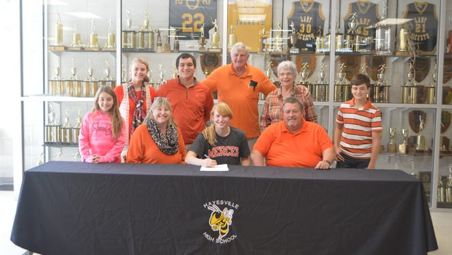 Hayesville senior Amanda Thompson has signed to play college basketball for Mercer.