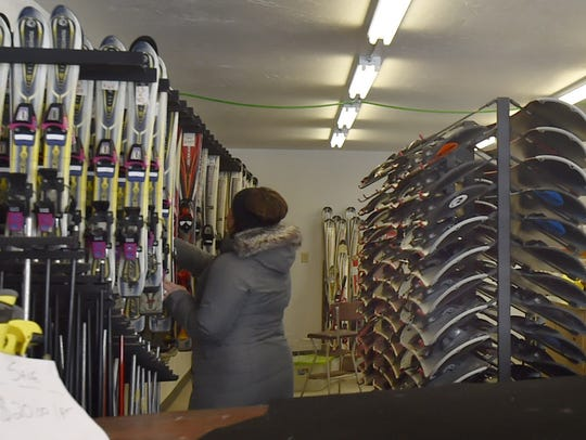 Ski and snowboard equipment for all ages is available