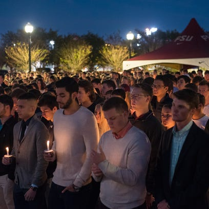 FSU gathers for a vigil honoring Andrew Coffey