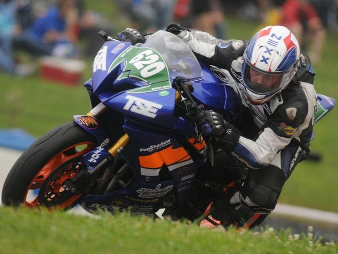 Saturday, July 19, 2014  SuperBikes practice session at MId-Ohio