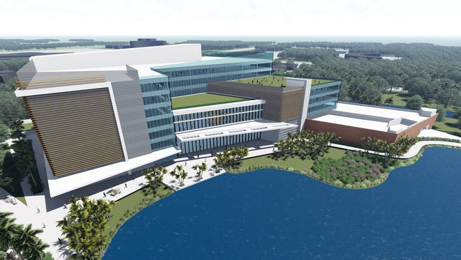 Rendering of proposed Arthrex 122-foot tower expansion project at Creekside Commerce Park in Naples.