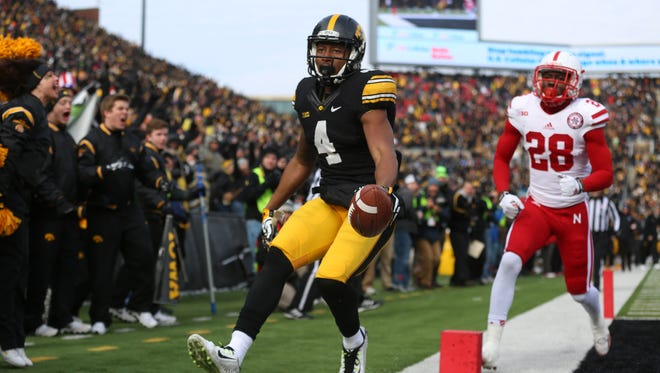 Iowa wide receiver Tevaun Smith has emerged as Iowa's No. 1 option at receiver. Last season Smith caught 43 passes for 596 yards, which ranked just 16th in the Big Ten.