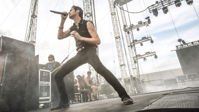 Perry Farrell performs with Jane's Addiction at the 2015 edition of Carb Day at Indianapolis Motor Speedway.