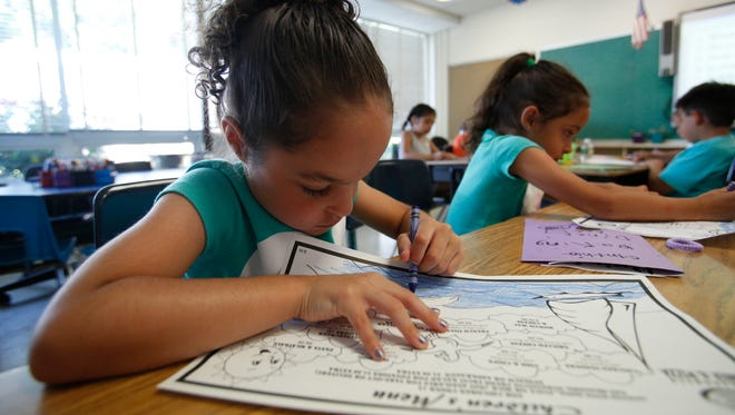 Children participate in the Port Chester ELL program at the John F. Kennedy Magnet School.