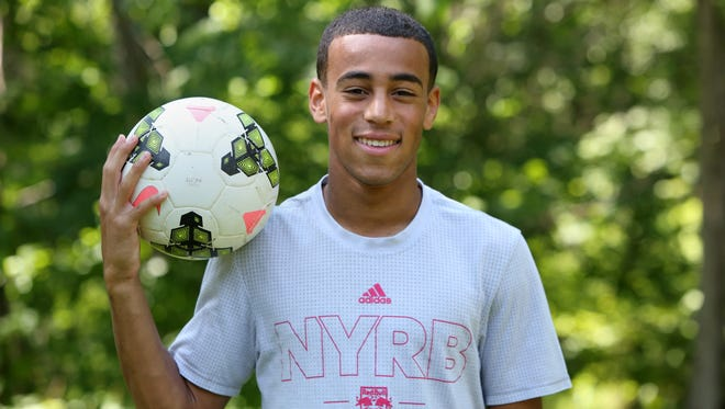 Roy C. Ketcham High School senior Tyler Adams, 18, a player on the New York Red Bulls, at home in Wappingers Falls June 12, 2017.