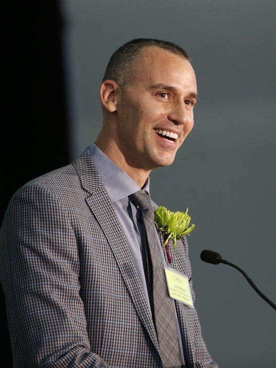 Josh Meibos accepts Arizona Teacher of the Year