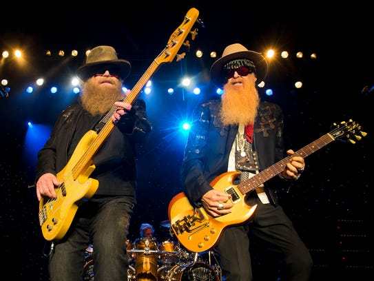 ZZ Top, including Dusty Hill (left) and Billy Gibbons,