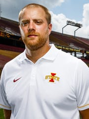 The Cyclones Offensive Coordinator Tom Manning poses for a portrait during media day on Tuesday, August 9, 2016 in Ames.