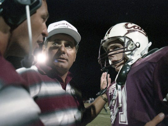 Calallen with the stout duo of coach Phil Danaher and his son Wes Danaher at running back, was rated the No. 5 Texas high school football team of the 1990s by Fizz Rankings.