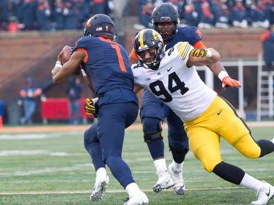 The Bills used their second-round pick on Iowa edge rusher A.J. Epenesa.