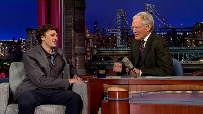 U.S. Olympic skier and Indiana native Nick Goepper visited with David Letterman on Tuesday night.