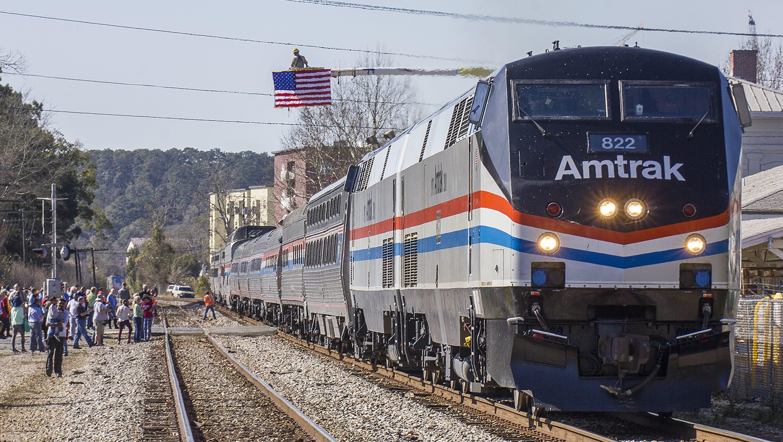 Photos: Amtrak rolls into Tallahassee
